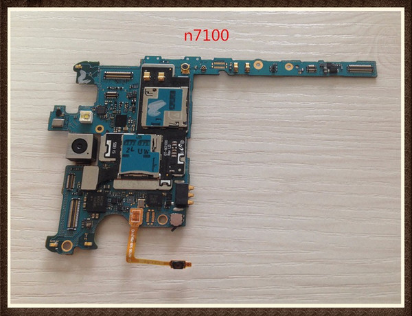 100%working~unlock good quality original motherboard for samsung galaxy note 2 n7100 clean imei ing