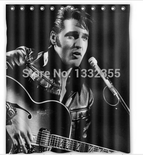 Elvis Presley Printed Good For Bathroom Decorative Shower Curtain Polyester 66x72 Inch Curtains