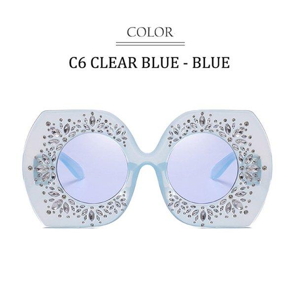 C6 Clear Blue Rahmen Blaue Linse