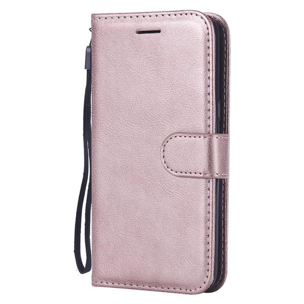 Funda billetera para samsung galaxy j2 core tapa trasera cubierta de color puro cuero de la pu bolsas para el teléfono móvil fundas coque