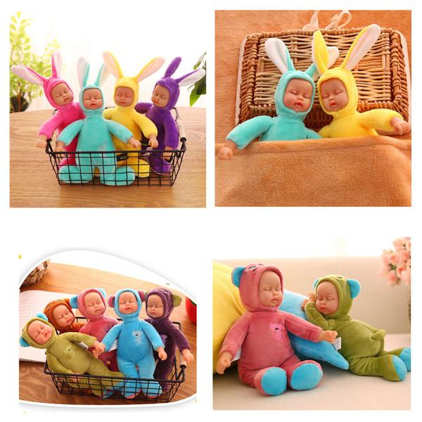 1 unid 25 cm Suave bebé muñecas para dormir de peluche conejito conejo de conejo de peluche de juguete de regalo de cumpleaños para niñas niños