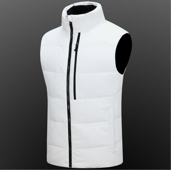 Korean version of the outdoor men's new down jacket vest men's collar thickened down vest men