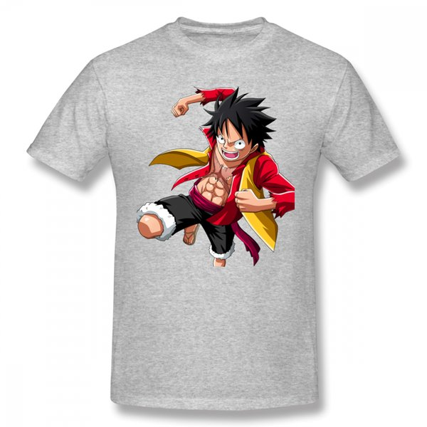Man One Piece T Shirt Luffy Straw Hat T Shirt 2018 T Shirt New Arrival Casual Fashion Top Design Tees