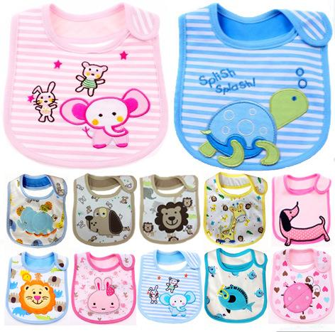 best selling 204 Styles 3 layers Baby Bibs Bandana Cotton Burp Cloths Baby Feeding Waterproof Bib Infant Saliva Towel Cartoon Accessories 0901305