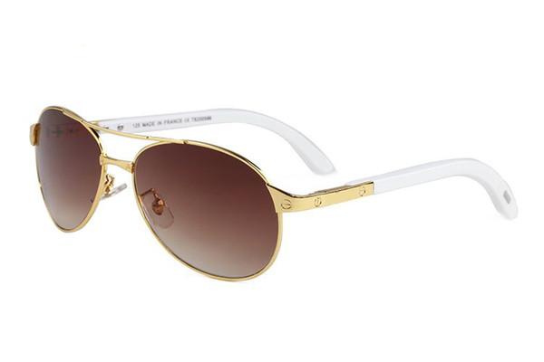 2019 Rhinestone Güneş Manda Boynuzu Gözlük Erkekler kadınlar için Gözlük Balıkçılık Açık Güneş Gözlüğü için Lüks Gözlük kutusu case8 ile