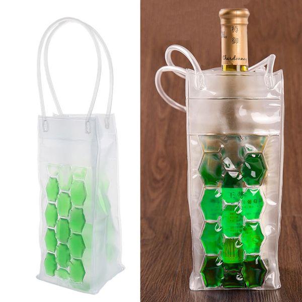 PVC Wine Bottle / Ice Bag Cooler Rapid Cool Can Cooling Gel Holder Gift Party