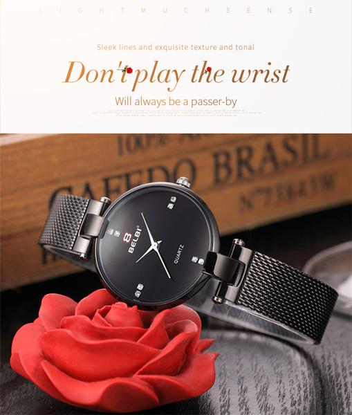 Marke Luxus Gold Schwarz Silber Frauen Uhr Wasserdicht Kalender Einzigartige Quarz Business Kleid Uhren für Weibliche Goldene Dame Uhr