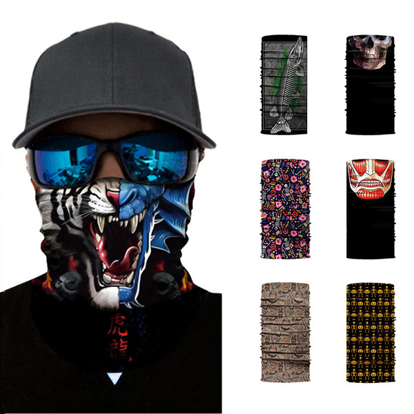 Animal Mask 2018 neue 7 Designs 3D Digitaldruck Animal Cartoon atmungsaktive sun-proof Radfahren Maske Bandana Männer Fahrt Stirnband