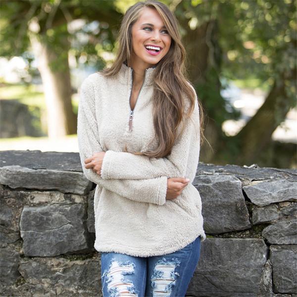Sudaderas con capucha para mujer Sudaderas con capucha Diseñador de otoño Suéter de manga larga Loose Fashion Fur Tops Abrigo ropa al por mayor S-XL