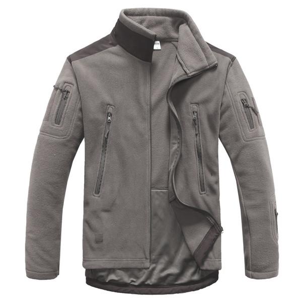 2018 mens Polar taktik Ceket kış Termal Dikiş ceket erkek Düz renk nefes Dağcılık Sürme dış giyim