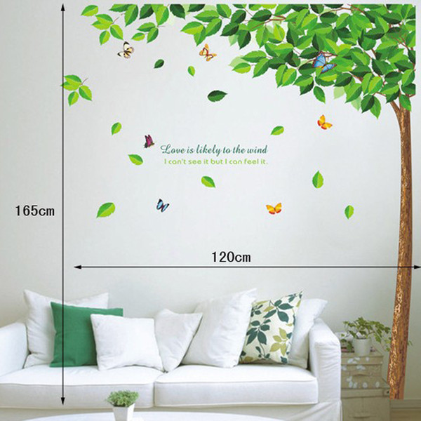 Free shipping Home decor large wall sticker family tree removable bedroom wall decal nature wall picture for living room