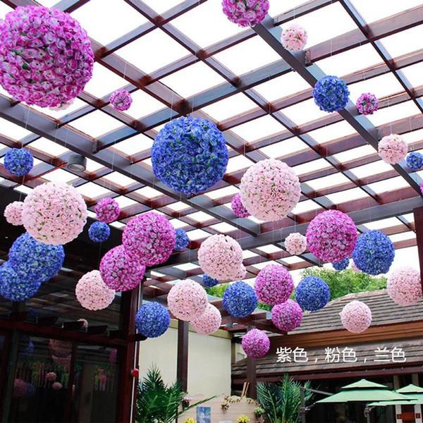 Palle di rose 8 pollici (20 cm) di seta Pomander Kissing Ball decorano fiori artificiali di fiori per la decorazione del mercato del giardino di nozze