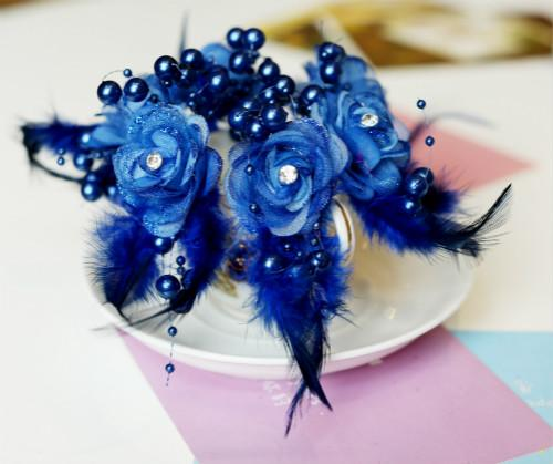 Fashion Feather Pearl Hair Pins Crystal Hair Jewellery Wedding Bridal Jewelry Hair Accessories 9 colors to choose 24pcs