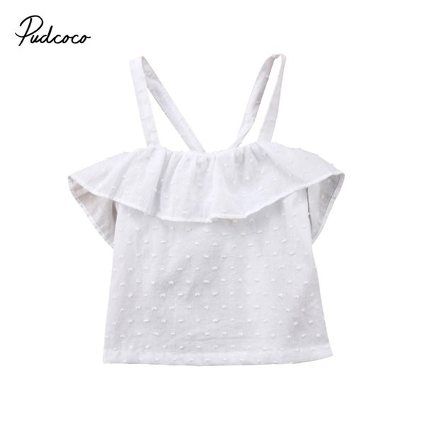 Ropa para bebés bebés recién nacidos bebés sin mangas camisa blusa Tops verano sólido blusa ropa 0-2T