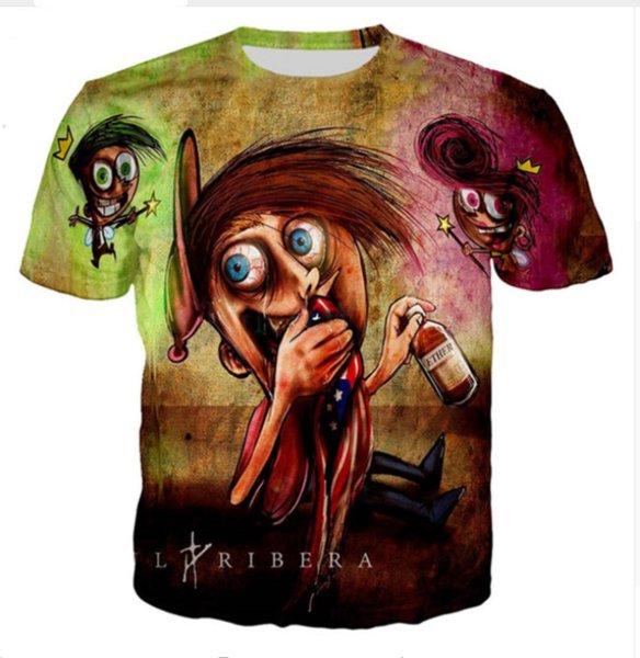 Toptan-Yeni Moda Erkek / Bayan Yaz Tarzı Küçük Prens Serisi Komik 3D Baskı Rahat T-Shirt DXR0064
