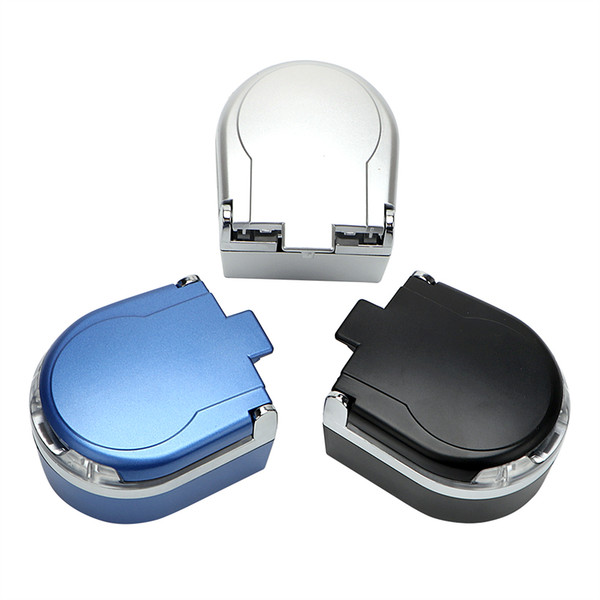 Portable LED Car Ashtray Smoke Ash Cylinder Storage Cup Smoke Cup Holder Cigar Ash Tray Garbage Container Car styling