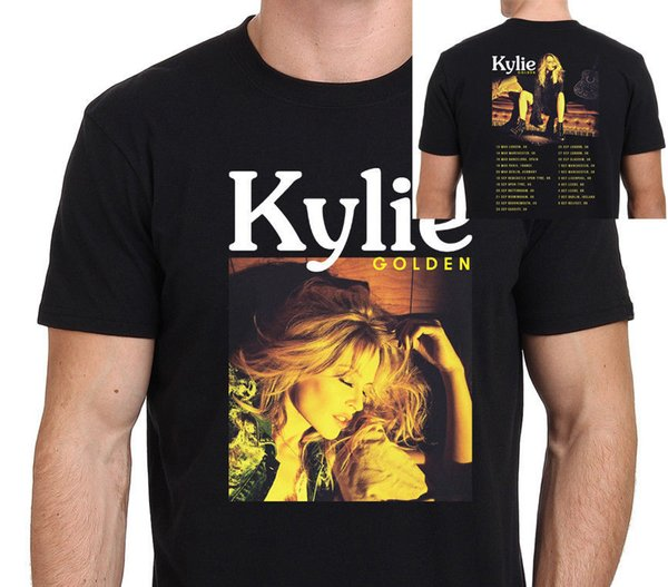 Casual Printed Tee Size S-2Xl Short Sleeve Men Printing Machine Kylie Minogue Golden Tour 2018 Size:S-M-L-Xl-4Xl O-Neck T Shirts