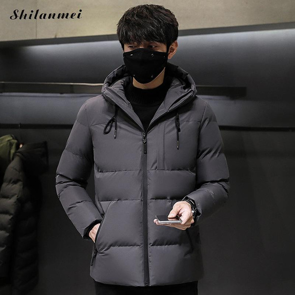 Plus Größe 4XL Männer Parkas verdicken Lose Parkas 2018 Winter Warm Lässige Mode Mäntel Schwarz rot Männlich Mit Kapuze Mantel Streetwear