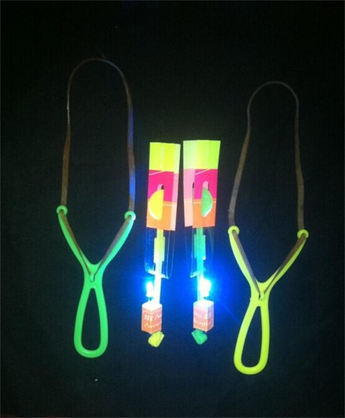 Luminescence Led Slingshot Novel Children Small Plastic Flash Of Light Flying Arrows Gift Easy Carry Small 0 51yl cc