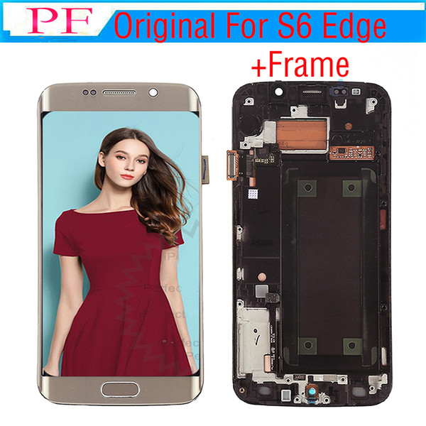 Original LCD Screen For Samsung S6 Edge G925V LCD Touch Screen Display Frame Digitizer Assembly For G920P G925R4 G925T G925K Lcd Replacement