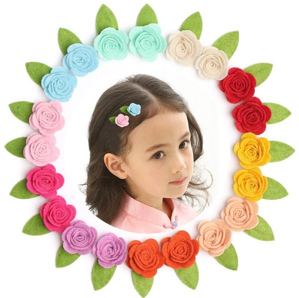 Korea Baby Girl Hair Clips Children Hair Clips Cute Flowers Safety Barrettes BB Clip Little Girls Gifts Kids Hair Accessories Christmas Gift