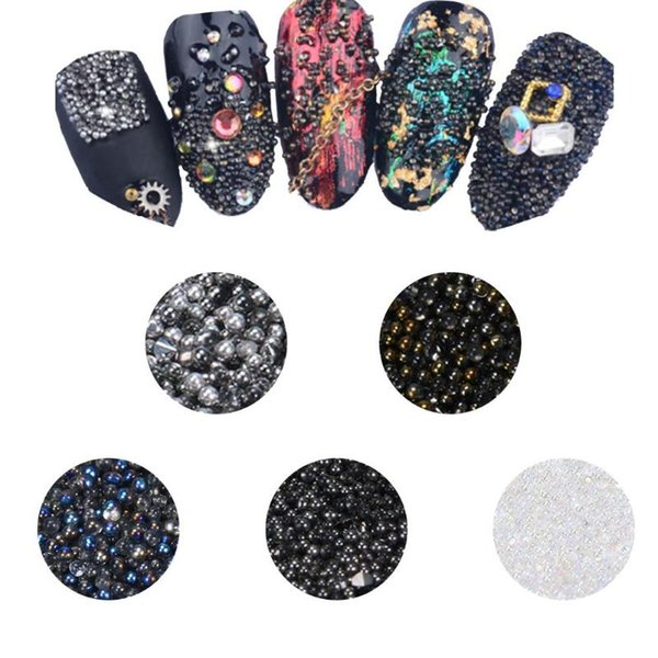 Nail glitter Spangles for Nails Beads Crystal Sand Beads Elf Fingernails Rhinestone Glass DIY Nail Art Decor polishing for nails