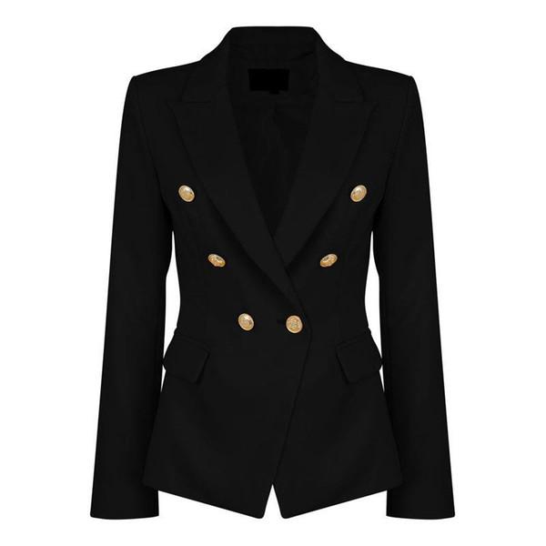 Ladies Black Blazers Feminino Formal Jacket Women Short Slim White Jackets Female Long-Sleeve Business Suit WS2509C