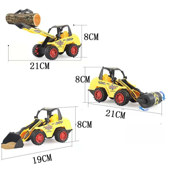 Engineering truck toys bulldozer, road roller, forklift,model vehicle set,Articulation movable simulation car gift for kids