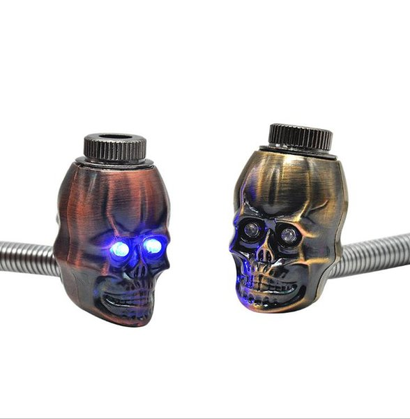 The Metal Pipe Can Be Bent. The Metal Pipe Smoke Ghost Skull Shape Light Pipe