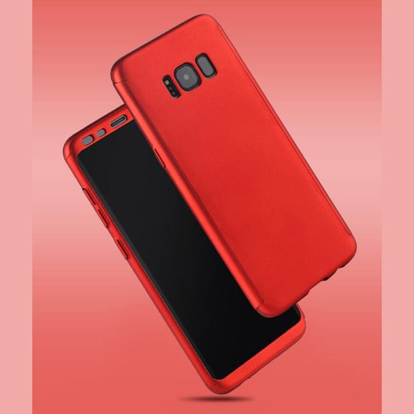 360 Degree Matte PC phone case for Samsung A8 Plus S9 Note 8 with screen protector full cover cases Back case Phone cover