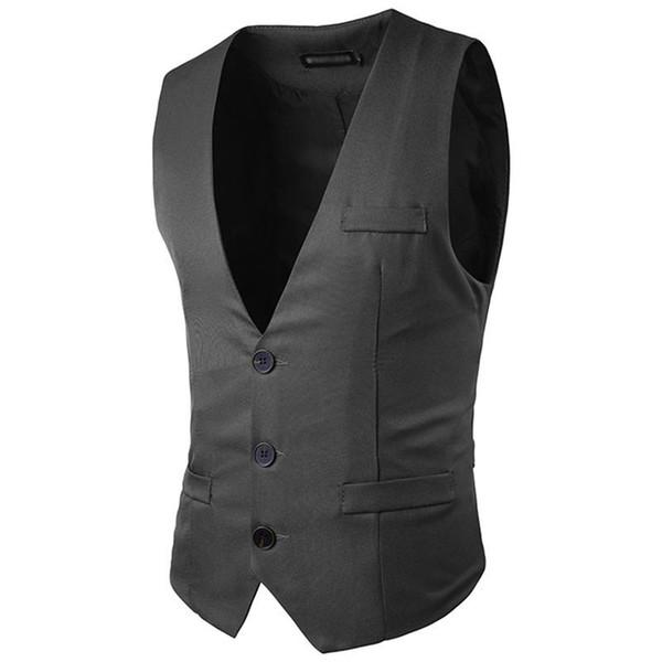 Men Vests Blazer Formal Dress Sleeveless Stylish Waistcoat Business Suit Jacket Vest Handsome Clothings New 2017 0087
