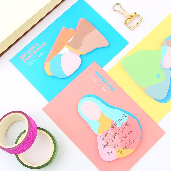 Art Van Gogh Paper Sticky Memo Pad Creative Space Planet Note For Kids Gift Korean Stationery Student