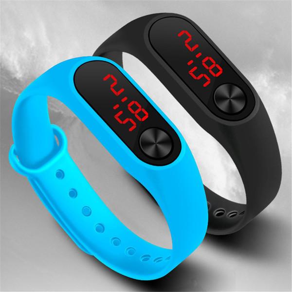 2018 New Fashion Digital Sport Watch Casual Silicone Watches Bracelet Clock Men Women Unisex Wristwatch drop shipping