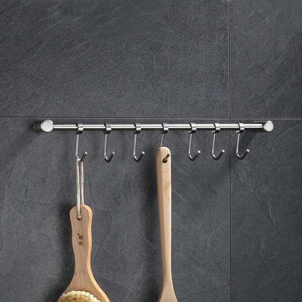 2019 JILIDA Solid Stainless Steel Pot Pan Rack With Flexible 7 Hooks  Cookware Utensil Hanger Bathroom Hook Wall Kitchen Organizer From Pagoda,  $33.76 ...