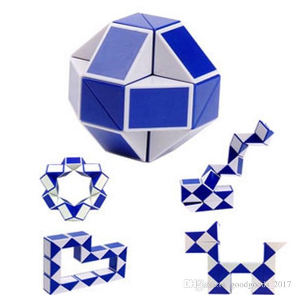 Mini Magic Cube New Hot Snake Forma Toy Game 3D Cube Twist Puzzle Toy Regalo casuale di apprendimento di intelligenza Giocattoli Supertop Regali M0605