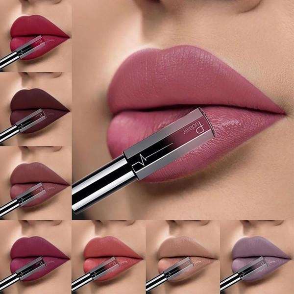 Hot 36 Colors Lipstick Semi Matte Long Lasting Liquid Lipstick Lip Gloss Women Beauty Makeup Cosmetics