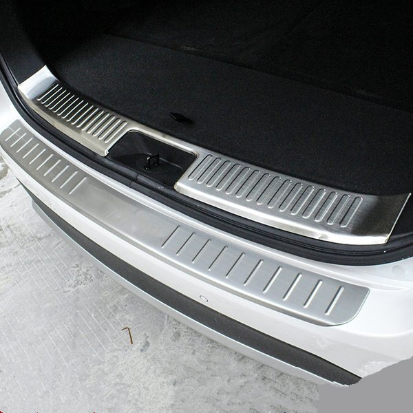 Stainless steel outer Rear Bumper Protector Cover For KIA Sorento 2015
