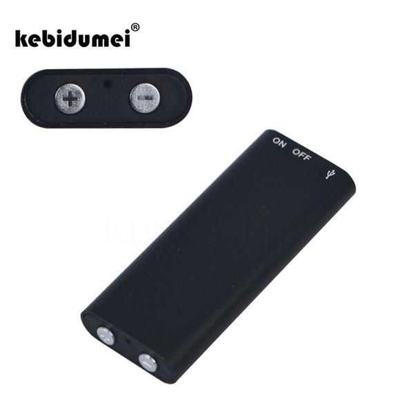 kebidumei Mini enregistreur vocal audio numérique Dictaphone 8G stéréo lecteur de musique MP3 3 en 1 8 Go de stockage de mémoire USB Flash Disk Drive