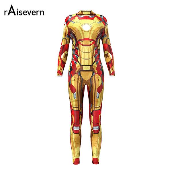 Infinity War Iron Man Jumpsuit Women Rose Skeleton Bodycon Fancy Playsuit Rompers Female Bodysuit Tracksuits Ladies
