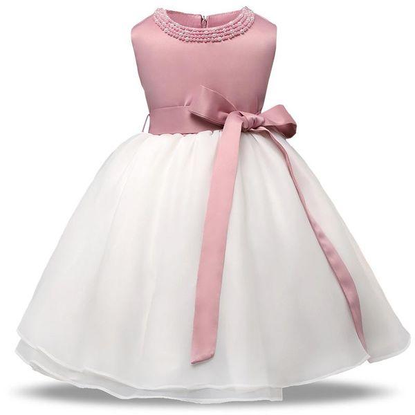 Girl Bowknot dress Flower Children Wedding dress Princess dress Festival costumes