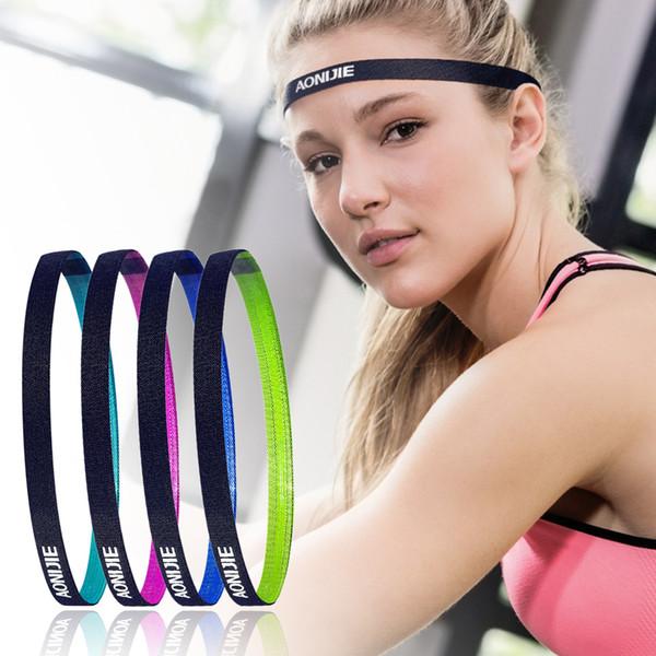Outdoor Football Yoga Running Women Men Yoga Hair Bands Sports Headband Anti-slip Elastic Sweatband