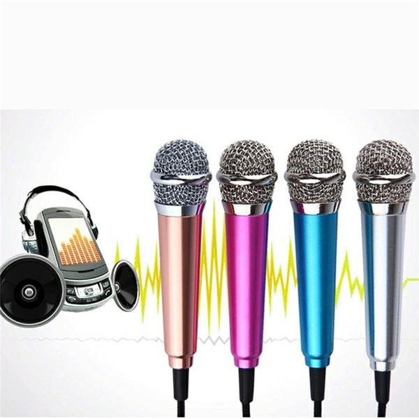 Mini Stereo Mikrofon Mikrofon Für Telefon PC Chatten Singen Karaoke Golden