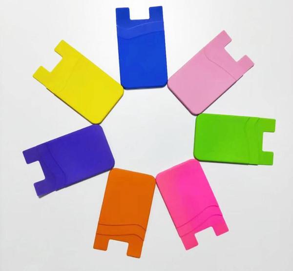 Basso prezzo all'ingrosso Pocket Pal Sticky phone case stick su carta titolare clip 3m adesivo smart wallet supporto per cellulare mobile per cellulare
