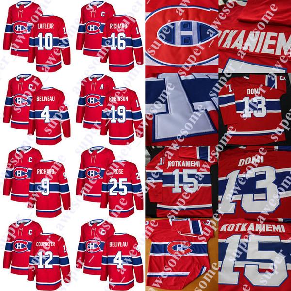 Montreal Canadiens Jersey Guy Lafleur 4 Jean Beliveau 16 Henri Richard 9 Maurice Richard 19 Larry Robinson 12 Yvan Cournoyer Jacques Lemaire
