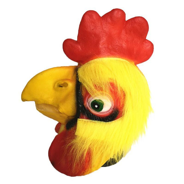 Creepy Rooster Head Latex Mask Theater Prank Prop Crazy Masks Halloween Costume