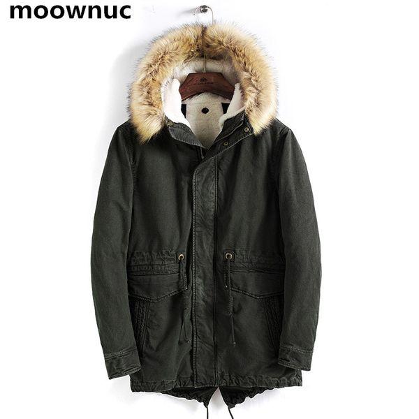 2019 Parka Mens Coats Winter Jacket Men Slim Fit Thicken