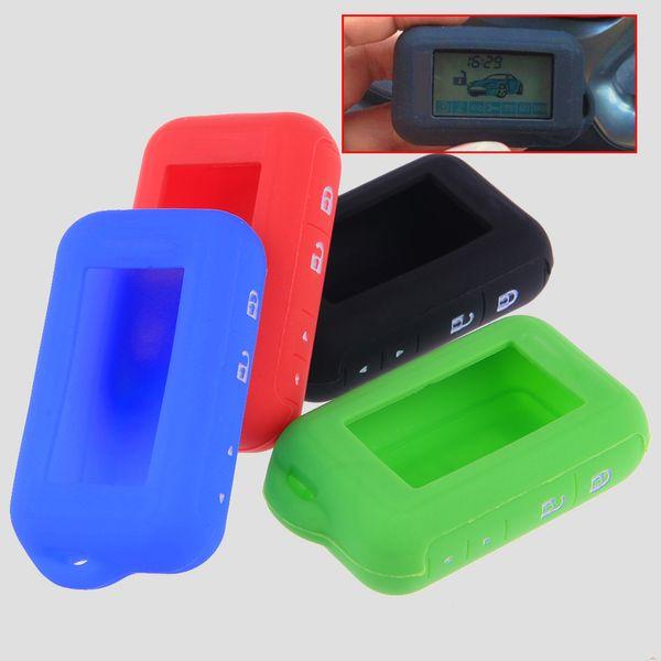 1 Pcs Remote Silicone Key Case Cover For Starline E90 Car Alarm Anti-theft Keychain