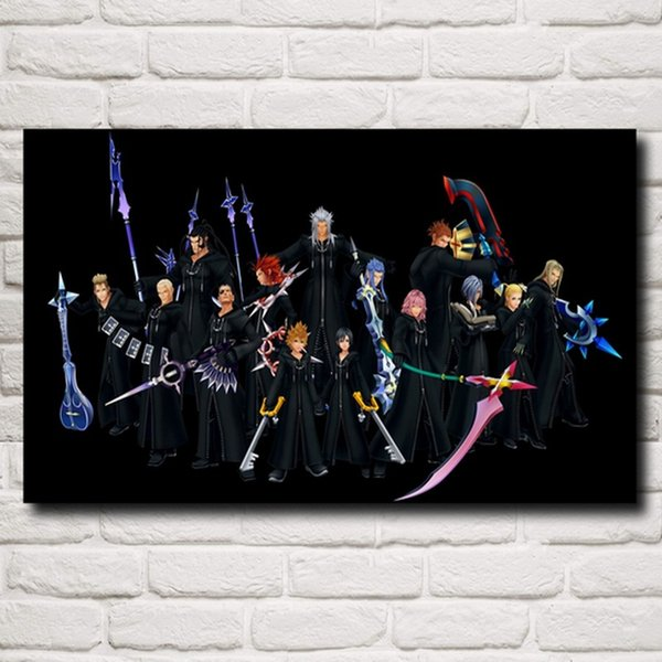 Kingdom Hearts Video Game,1 Pieces Canvas Prints Wall Art Oil Painting Home Decor (Unframed/Framed)
