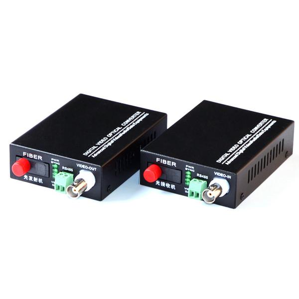 1 Çift 2 Adet / grup 1 Kanal Video Optik Dönüştürücü fiber optik video optik verici alıcı 1CH + RS485 Veri