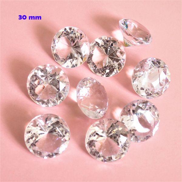 Acrylic Jumbo 30mm Gemstone Table Scatter Confetti Diamonds For Wedding Table Deco 10pcs 11 colors For U Pick